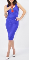 NEW! Vanna Fitted and Ruched Maternity/Nursing Dress in Bamboo