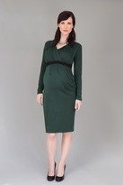 Mayreau Maternity/Nursing Pleated Long Sleeve Dress