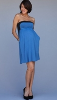Mayreau Two Tone Amber Tube Maternity/Nursing Dress