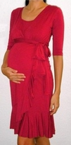 Evita Ruffle Wrap Maternity Dress / Nursing Dress (Sizes S-3X)