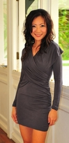 Shawl Pewter Maternity /Nursing Tunic & Dress - also in Black!