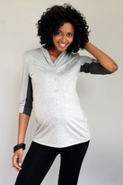 NEW! 1 in the Oven Maternity/Nursing Shawl Collar Henley