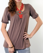 Emily Bamboo Maternity and Nursing Tunic Top Blouse