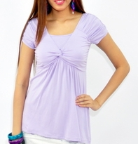 NEW! Bamboo Knot Maternity and Nursing Ruched Sleeve Top