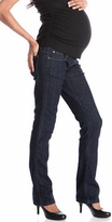 NEW! Straight Leg Designer Maternity Jeans by Lilac - Dark Wash