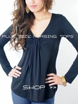 Plus Size Nursing Tops