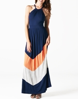 NEW! Cute Meshel Maternity Chevron Print Maxi Dress
