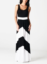 NEW! Chic Chevron Print Maternity Tank Maxi Dress