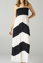 Cute Black & White Color Block Maternity Maxi Dress