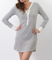 NEW! Stylish & Comfy Nursing/Maternity Striped Nightdress