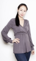 Annee Matthew Bella Maternity and Nursing Top in Bamboo