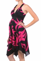 NEW! Sexy Summer Pink Pineapple Print Empire Waist Maternity Dress