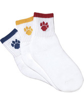 Girls Paw Print Cheer Sock Teamwork 5013
