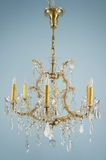 7-candle cut crystal Maria Theresa-style  chandelier <NOBR>(ca. 1930s)</NOBR>