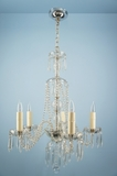 5-candle cut crystal chandelier <NOBR>(ca. 1940s)</NOBR>