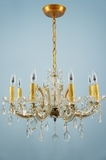 8-candle Italian Maria Theresa-style crystal chandelier <NOBR>(ca. 1940s)</NOBR>