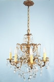8-candle Spanish crystal chandelier <NOBR>(ca. 1950s)</NOBR>