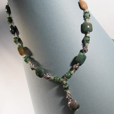 Fancy Jasper African Jade Necklace (Sold Out)