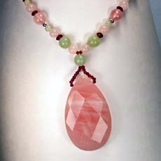 Rose Quartz New Jade Necklace (Sold Out)