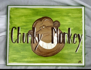 Chunky Monkey Plaque