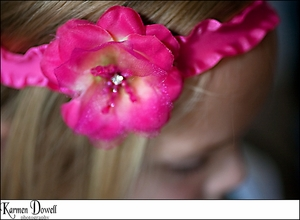 <center>Hot Pink Ruffle Flower Headband</center>