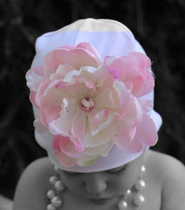 <center>Light Pink Peony/Pink Hat</center>