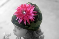 <center>Hot Pink Daisy/Green Camo Hat</center>