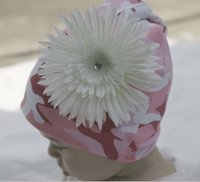 <center>Cream White Daisy/Camo Hat</center>