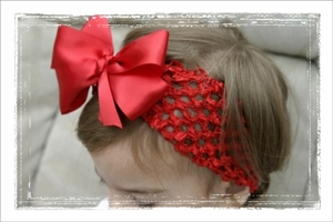 <center>Red Satin Bow Band</center>