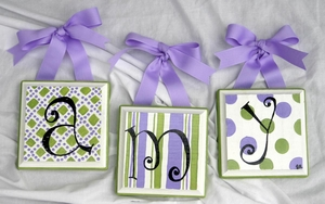 Lime Green & Purple Letters