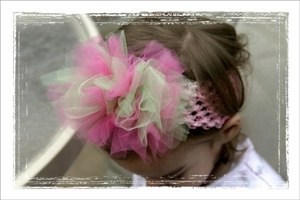 <center>Hot Pink/Green TuTu Headband</center>