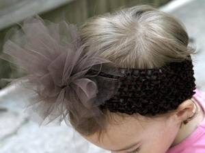 <center>Chocolate TuTu Headband</center>