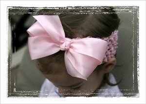 <center>Lt. Pink Satin Bow Band</center>