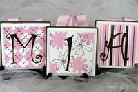 Pink & Choclate Wall Letters