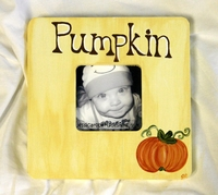 """Pumpkin"" Picture Frame"