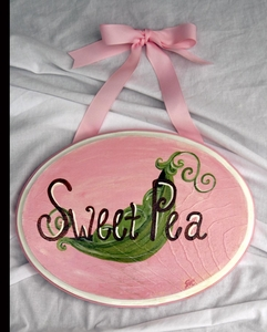 Sweet Pea Plaque