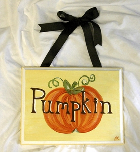 """Pumpkin"" Plaque"
