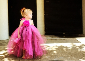 <center>Chocolate/Hot Pink Gown</center>