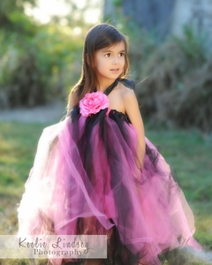 <center>Hot Pink/Black Tutu Dress</center>