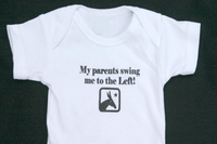 "<center>""My parents swing me to the Left""</center>"