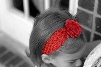 <center>Red Rosette/Red Crochet band</center>