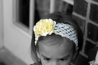 <center>Dbl. Light Yellow Rosette/Cream Crochet</center>