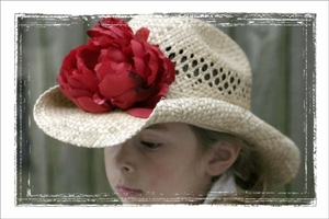 <center>Red Peony Western Hat</center>