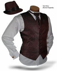 Angelino  Buruno Burgundy Vest Set