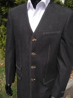 V-Neck Denim Suit  size 42L