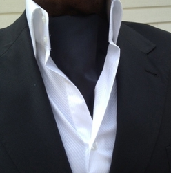 Solid Black Ascot and matching Hanky