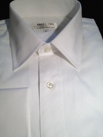 Angelino White Twill Dress Shirt