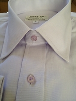 Angelino Light Grey Twill Dress Shirt