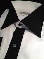 Angelino White Black Dress Shirt