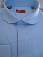 Steven Land Blue Cutaway Collar Dress Shirt